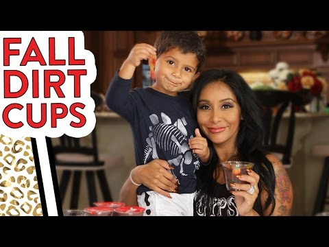 "Nicole ""Snooki"" Fall Dirt Cups with Lorenzo!"