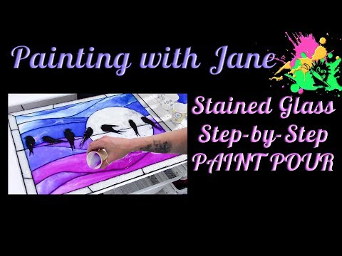 Paint Pouring: There Has to be More to It! - How to Make Stained Glass with Pouring Medium