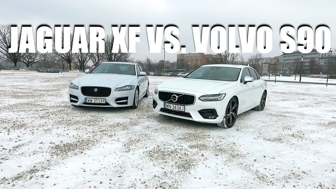 Side by side comparison – Volvo S90 T6 Polestar vs. Jaguar XF 3.0d R-Sport (ENG)