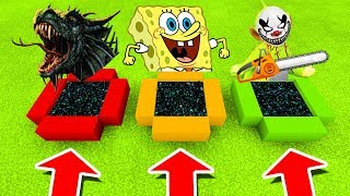 Minecraft PE : DO NOT CHOOSE THE WRONG END PORTAL! (Dragon, Spongebob & Dipsy Slendytubbies)