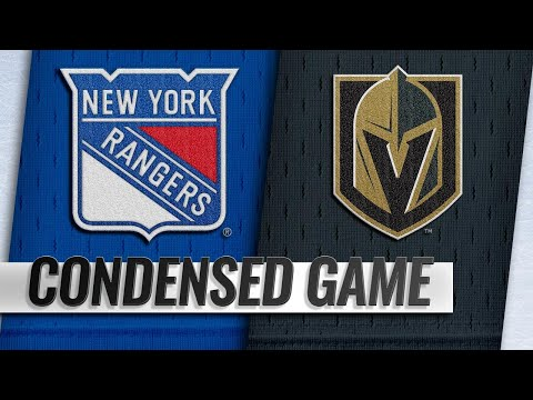01/08/19 Condensed Game: Rangers @ Golden Knights
