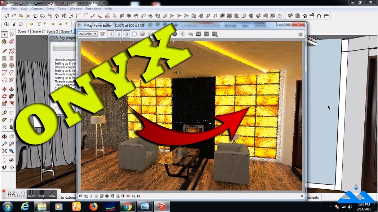 Best way to make Glowing ONYX effect in Sketchup Vray
