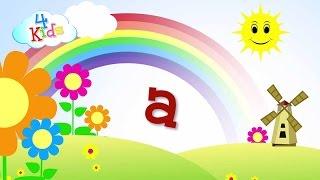 abc Buchstaben lernen für Kinder. Das Alphabet in Kleinbuchstaben a bis z in Deutsch