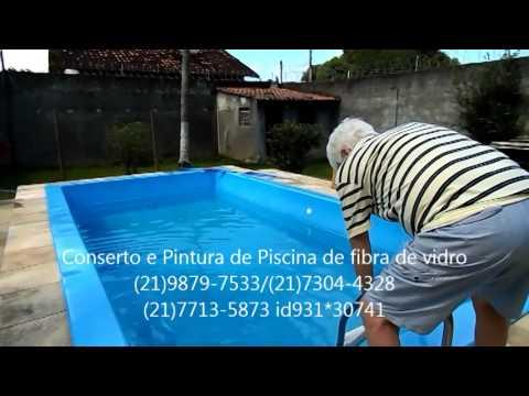 Conserto vazamento pintura de piscina de fibra de vid - Pintura de piscina ...