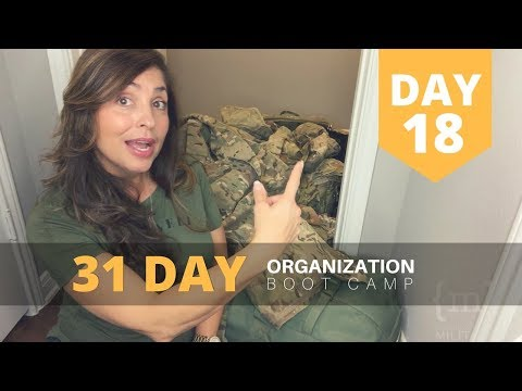 Military Spouse: 31 Day Organization Boot Camp - Day 18