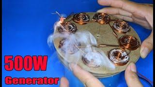 DIY 500W Generator | Amazing idea 2020 Dynamo 500W