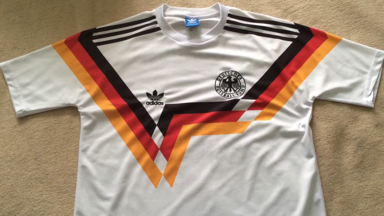 7a0452f762f Germany 1990 Retro Football Jersey Review - YouTube
