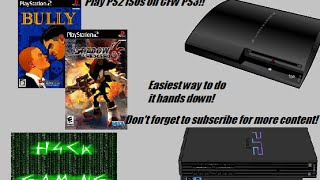 Play PS2 ISOs on CFW PS3! Super Easy!