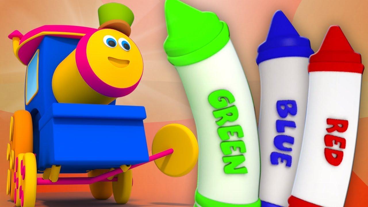 bob le train crayons couleurs chanson apprendre couleurs bob train crayons colors song. Black Bedroom Furniture Sets. Home Design Ideas