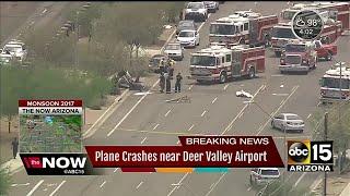 Small plane crash lands near Deer Valley Airport
