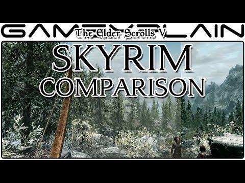 The Elder Scrolls V: Skyrim - Switch VS Xbox 360 VS Playstation 4 Graphics & Loadtimes Comparison