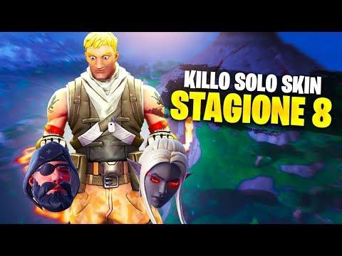 POSSO Killare SOLO Skin della STAGIONE 8!! Fortnite ITA!