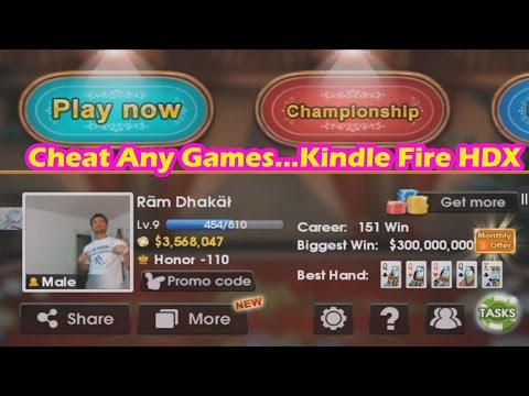 How to cheat any games from kindle fire hdx 2014