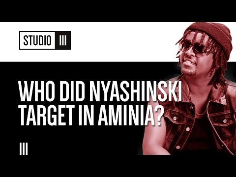 Who Nyashinski was targeting in 'Aminia', Hip Hop heads react..   Studio 3