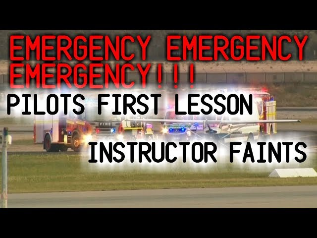 ATC teaches pilot how to fly after his instructor passes out || Real Complete ATC
