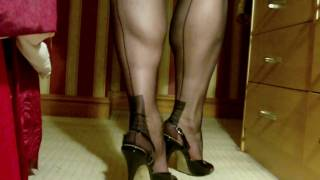 Repeat youtube video Black FF stockings and slingbacks 2
