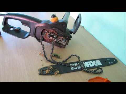 How to put the chain back on a worx electric chainsaw youtube how to put the chain back on a worx electric chainsaw greentooth Image collections