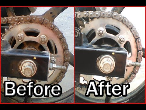 Chain lubrication | How to clean and lubricate bike chain | Yamaha FZ v2.0