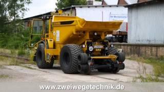 Zweiwege-Dumper Hydrema 912ZW beim eingleisen