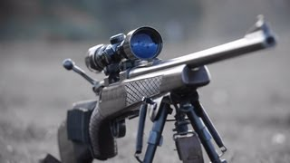 Sniper rifle shooting - 1000 yards with wind
