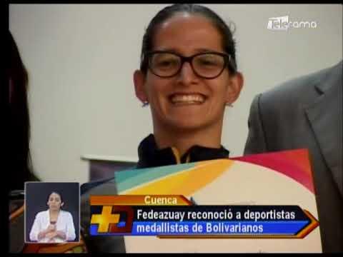 Fedeazuay reconoció a deportistas medallistas de Bolivarianos
