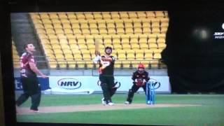 Cricket HRV Cup T20 One handed crowd catch while holding a