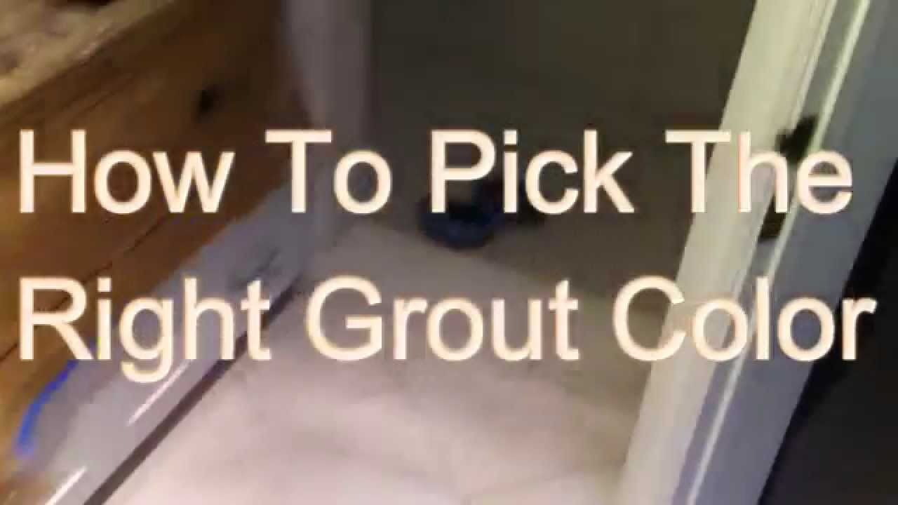 How to pickthe right grout color youtube dailygadgetfo Gallery
