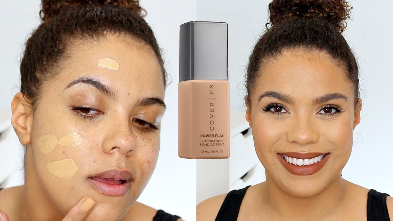 Cover FX Power Play Foundation Review Oily Skin Diaries! - YouTube