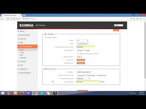 HOW TO CHANGE EDIMAX WIFI ROUTER PASSWORD
