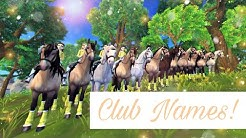 35 cool Star Stable club names!