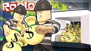 Roblox Adventures - ROBLOX BANK ROBBERY! (Rob a Bank Obby)