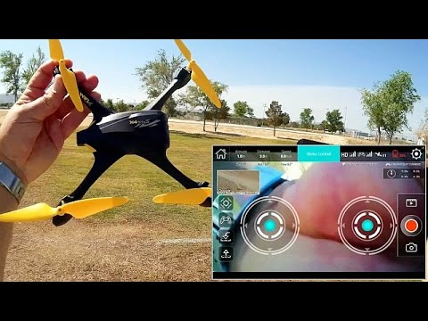Hubsan H507A GPS FPV Waypoint Follow Me Drone Flight Test Review