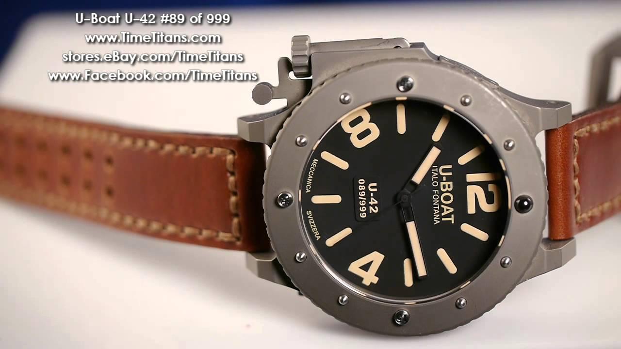 c006f275b3a U-Boat U-42 53MM Monster Titanium 300M Limited Edition - YouTube