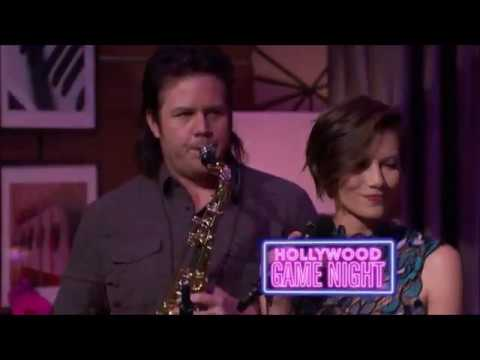 Lauren Cohan & Christian Serratos singing on HGN