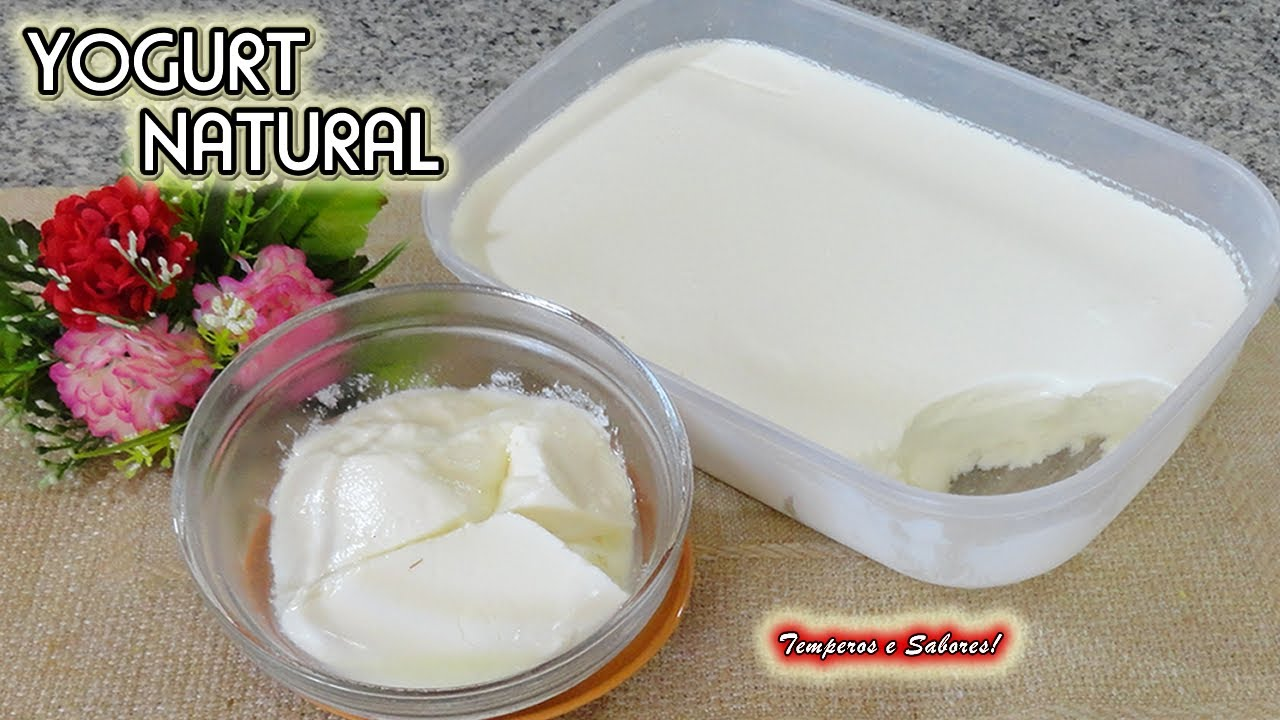Yogurt Natural Con Sólo 2 Ingredientes Saludable Y Súper Fácil Youtube