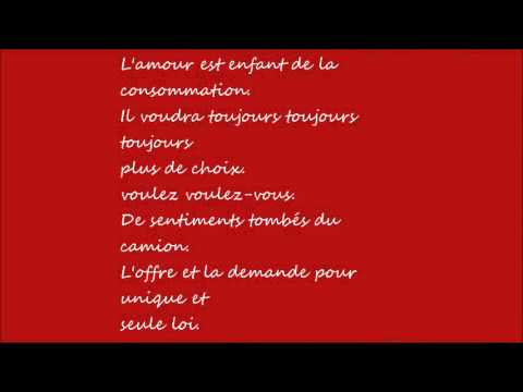 Carmen-Stromae --Lyrics