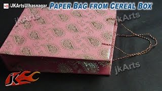 HOW TO: Make Paper Bag from Cereal Box - JK Arts 509