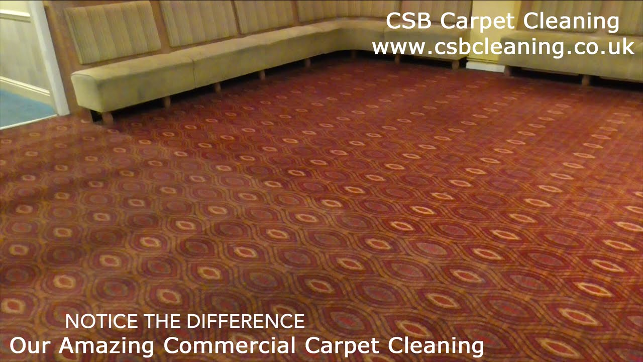Cleaning A Restaurant Carpet By CSB Commercial Carpet Cleaning In Bridgend - YouTube