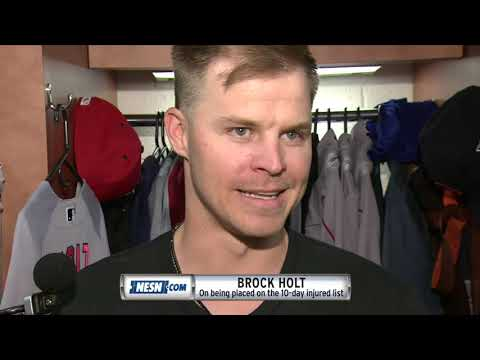 Brock Holt elaborates on eye injury