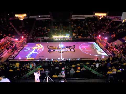 Tennessee Tech Women's Basketball 3D Court Projection