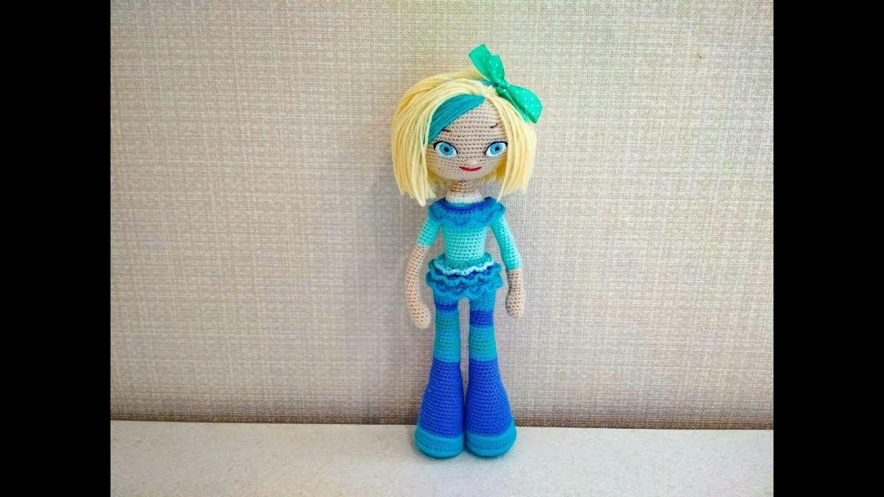 Игрушка амигуруми. Кукла Снежка. Мастер-класс крючком. (Сrochet doll)