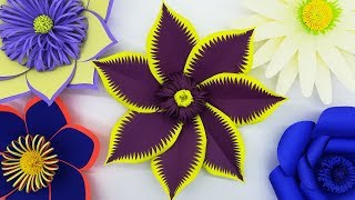 Gaint Paper Flower Making With Backdrop Design | Weeding Flowers For Decoration Ideas | DIY