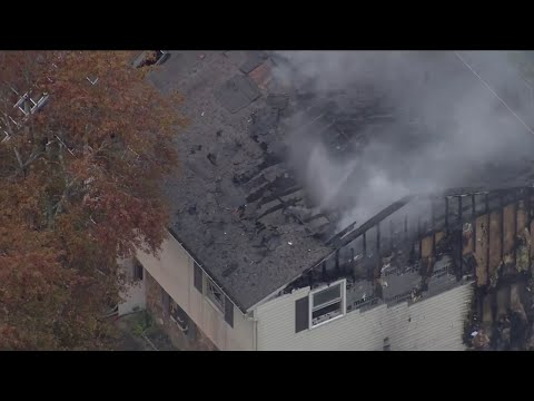 Crews Battle House Fire In Bucks County