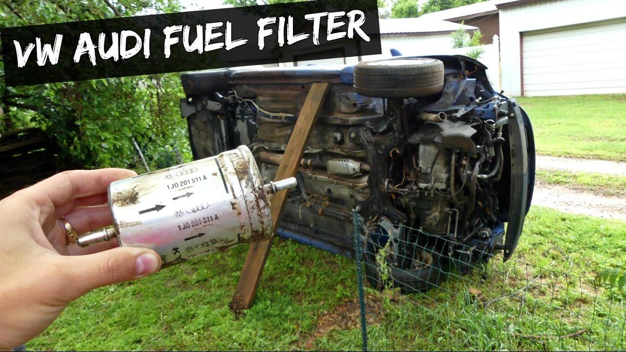 vw audi fuel filter removal replacement audi tt vw beetle golf mk4 [ 1280 x 720 Pixel ]