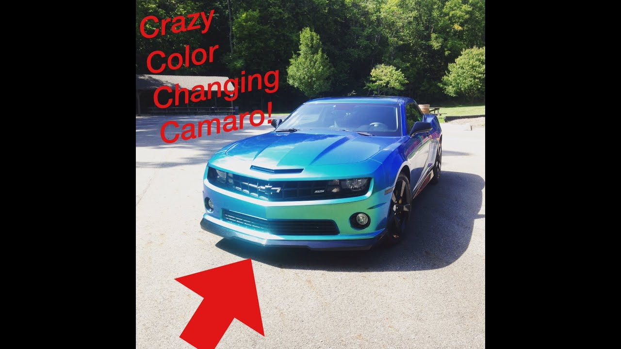 Colour changing car technology - Color Changing Camaro Wrap
