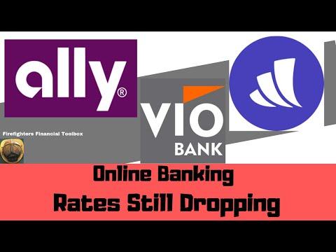 VIO BANK 2.42% NO MORE :ONLINE BANK RATES STILL DROPPING!  #allybank #wealthfront #viobank
