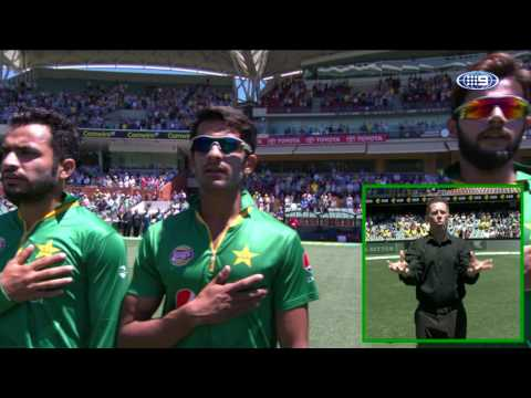 Fahad Farooque - Adelaide Oval Australia Day One Day International Pakistani Anthem - 2017
