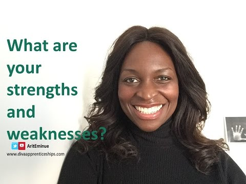 """""""What are your strengths and weaknesses?"""" Example answers to job interview question"""