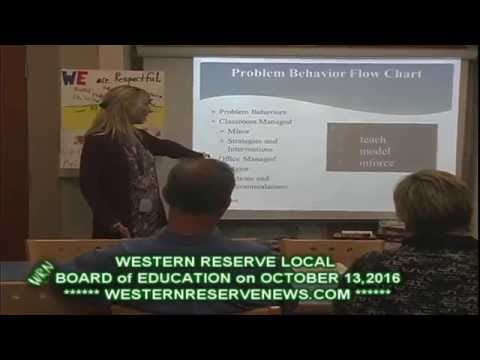 Western Reserve Local Schools Berlin Center Mahoning County  October 13, 2016 PostMeeting