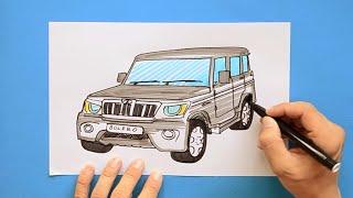 How to draw Mahindra Bolero